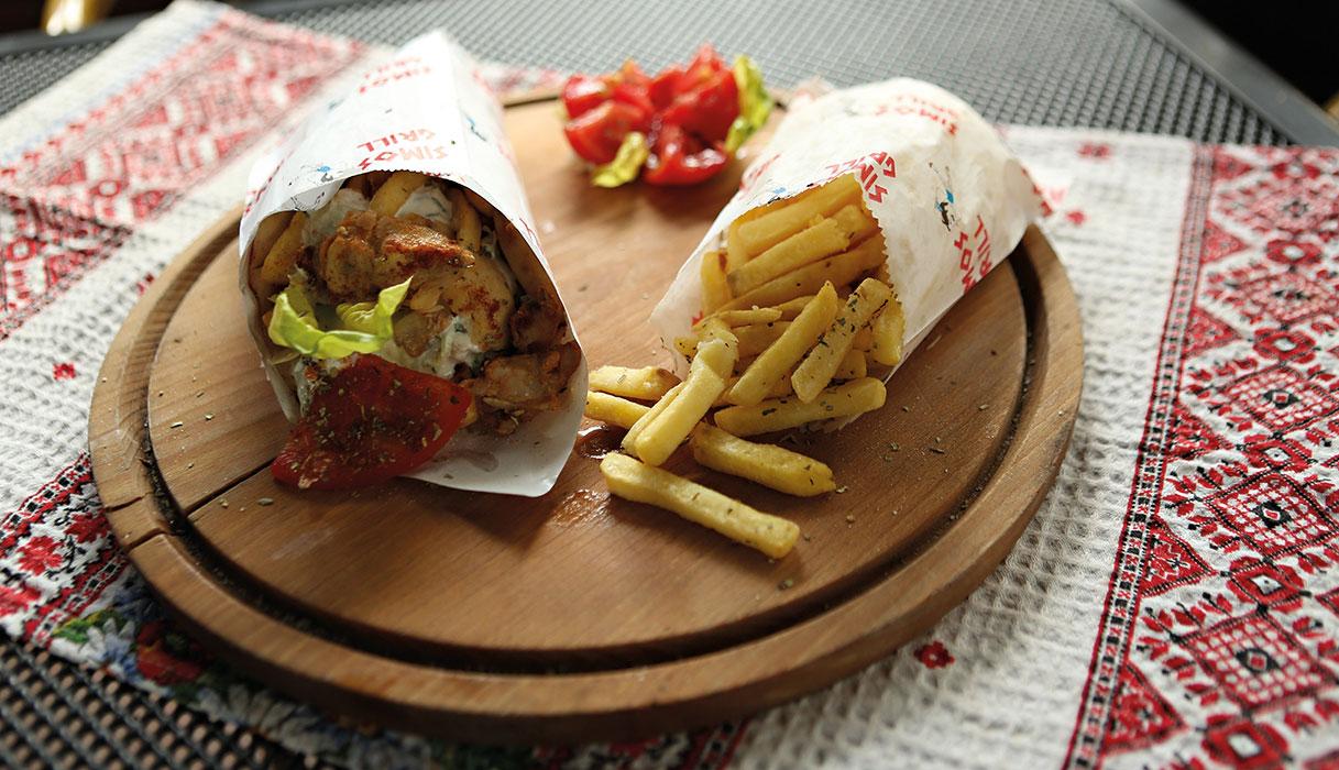 fast-food gyros